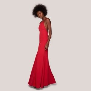Fame and Partners Leo Backless Gown sz 6